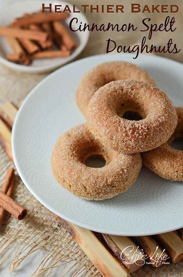 Healthier Baked Cinnamon Spelt Doughnuts Recipe