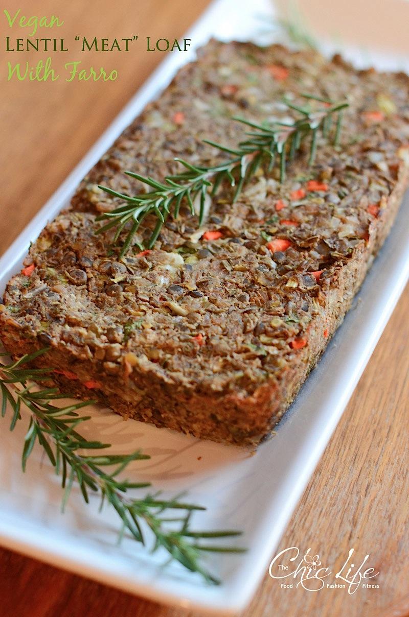 Christmas Meatloaf.Vegan Lentil Farro Meat Loaf Recipe Great For
