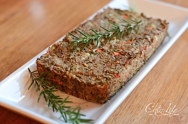 Vegan Lentil Farro Meat Loaf Recipe