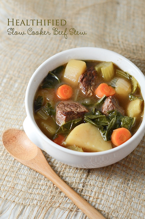 Healthified Slow Cooker Beef Stew Recipe
