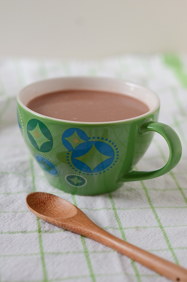 Healthy Hot Chocolate Recipe - only 4 ingredients!