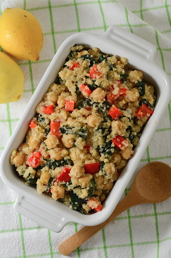 Warm Lemon Quinoa Salad Recipe