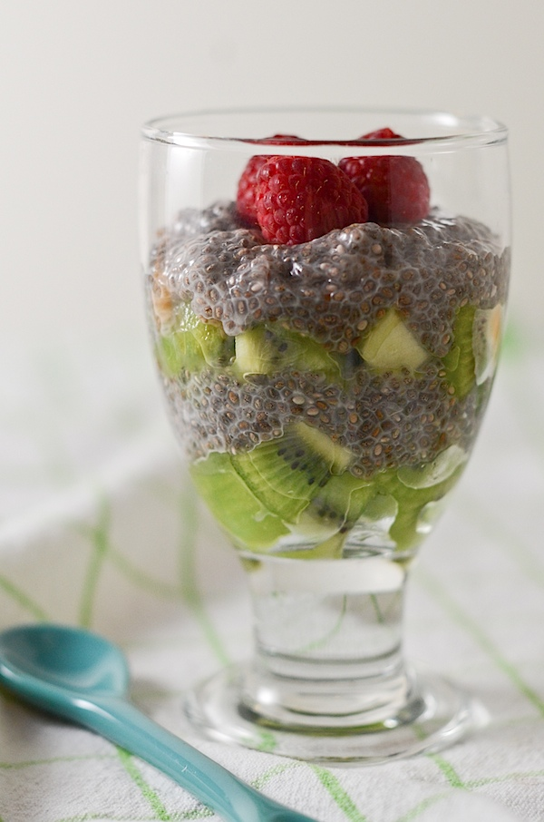 Vanilla Chia Seed Pudding with Rick Milk