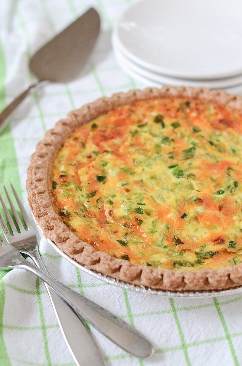 Easy Brussels Sprouts and Cheddar Cheese Quiche Recipe