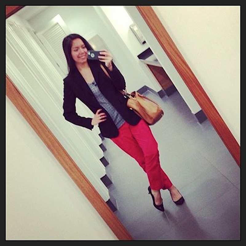 Work Outfit: Red Pants