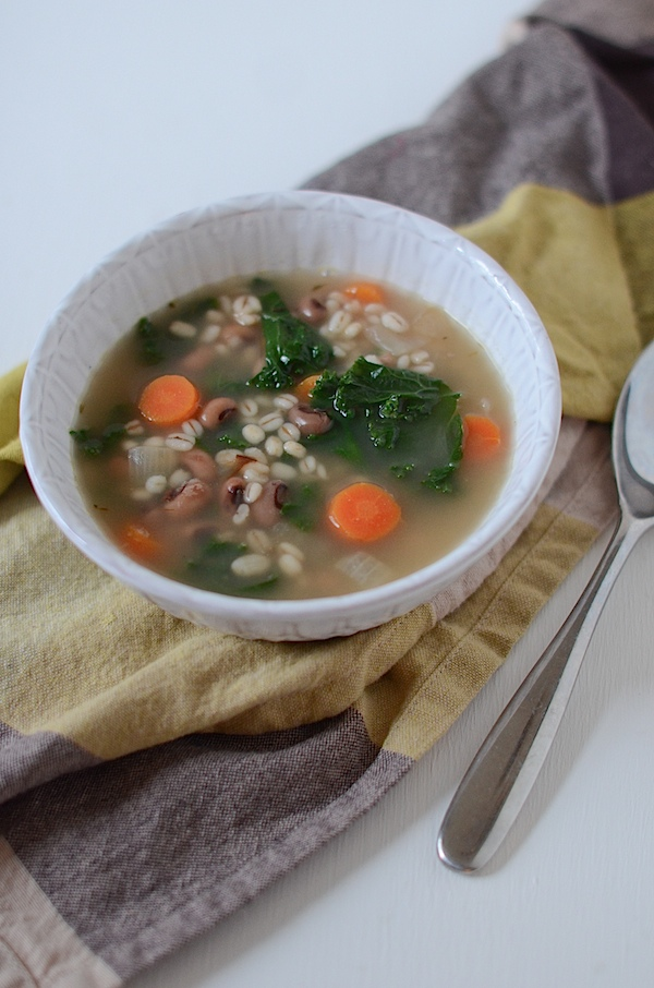 Vegetarian Barley Black Eyed Pea Soup Recipe