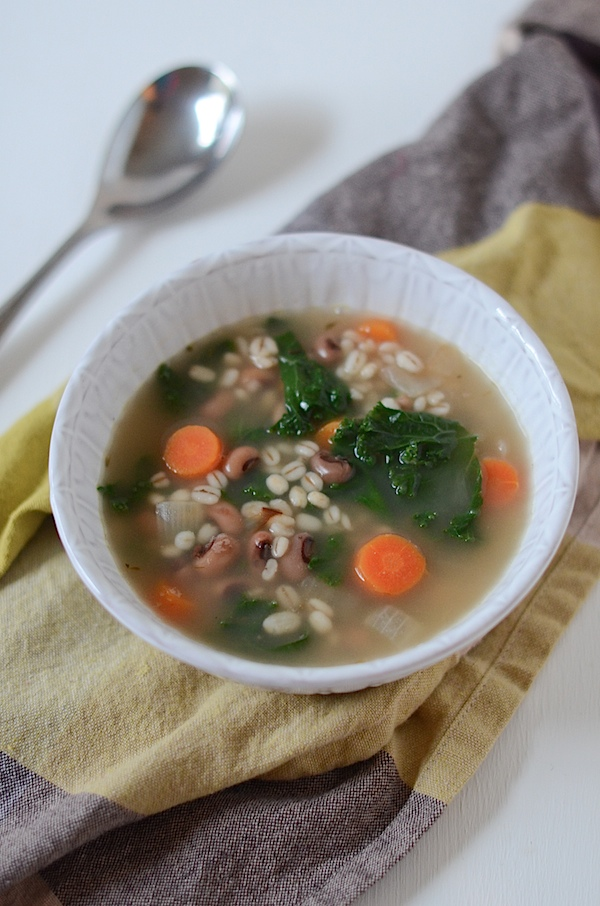Vegetarian Barley Black Eyed Pea Soup Recipe