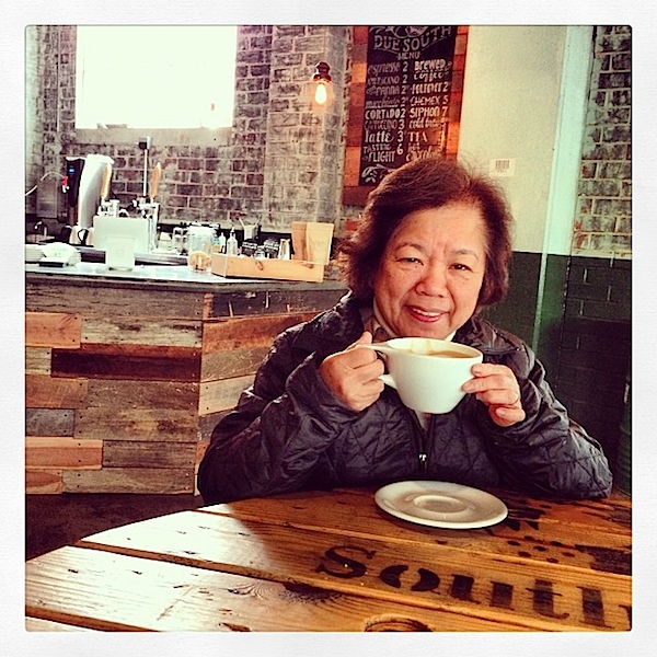 Mom at Due South Coffee