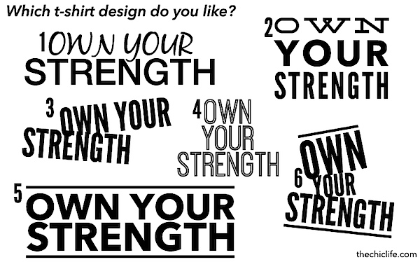 Own Your Strength Shirt Options