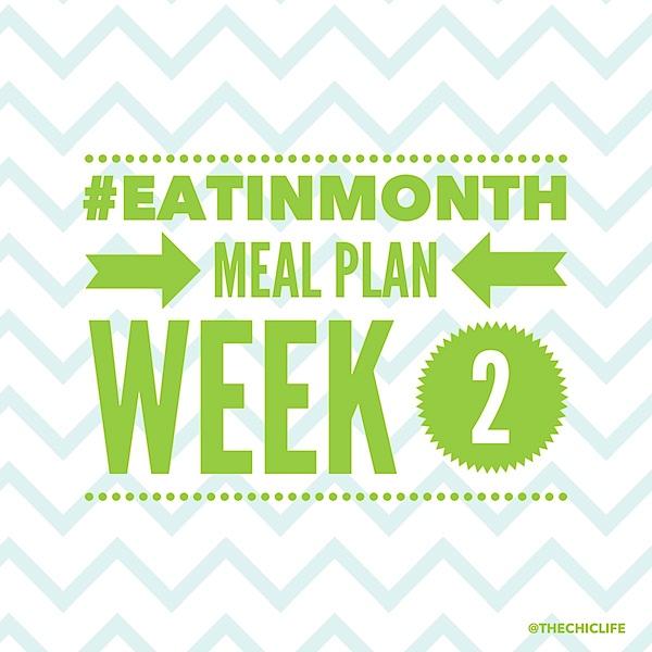 Eat in Month 2015 Meal Plan Week 2