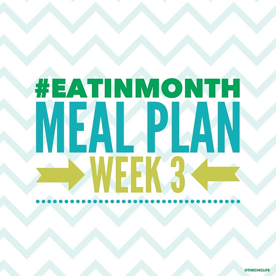 Eat in Month 2015 Meal Plan Week 3