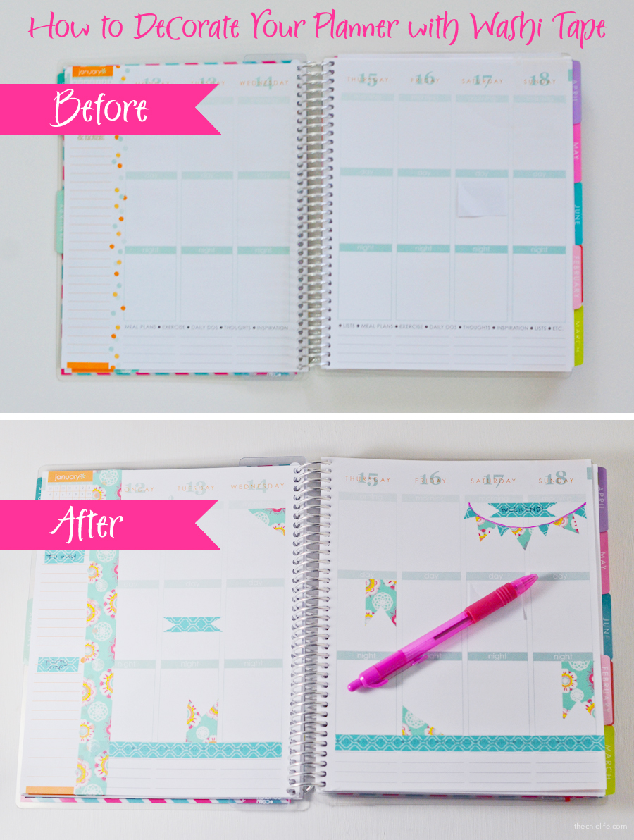 How To Decorate A Red Sofa Living Room: How To Decorate Your Planner With Washi Tape