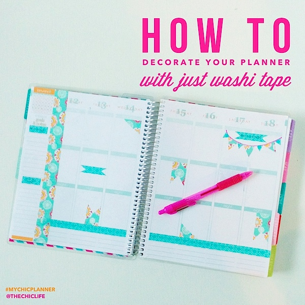 How to Decorate Planner with Washi Tape