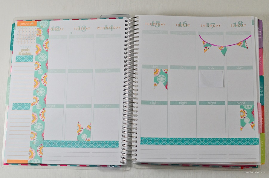how to decorate your planner with washi tape the chic life