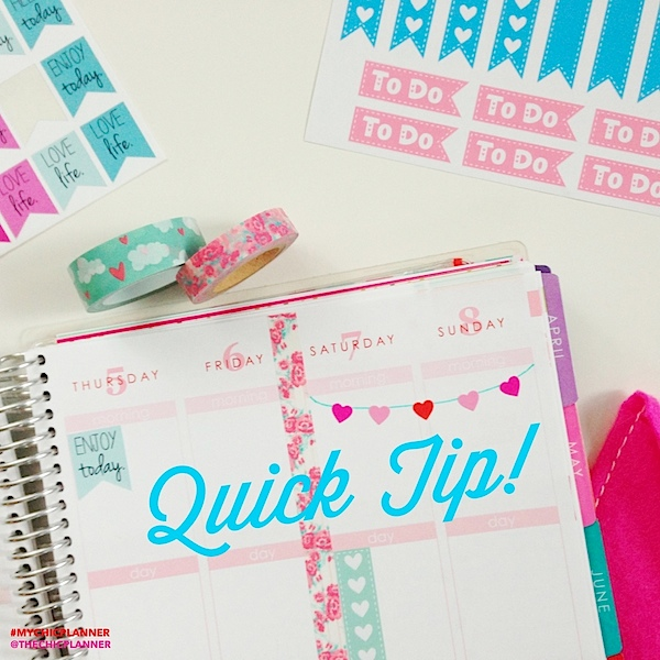DIY Weekend Banner with Stickers {Quick Planner Tip}