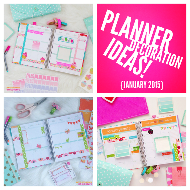 Life Planner Decoration: January 2015 (Weekly/Monthly)