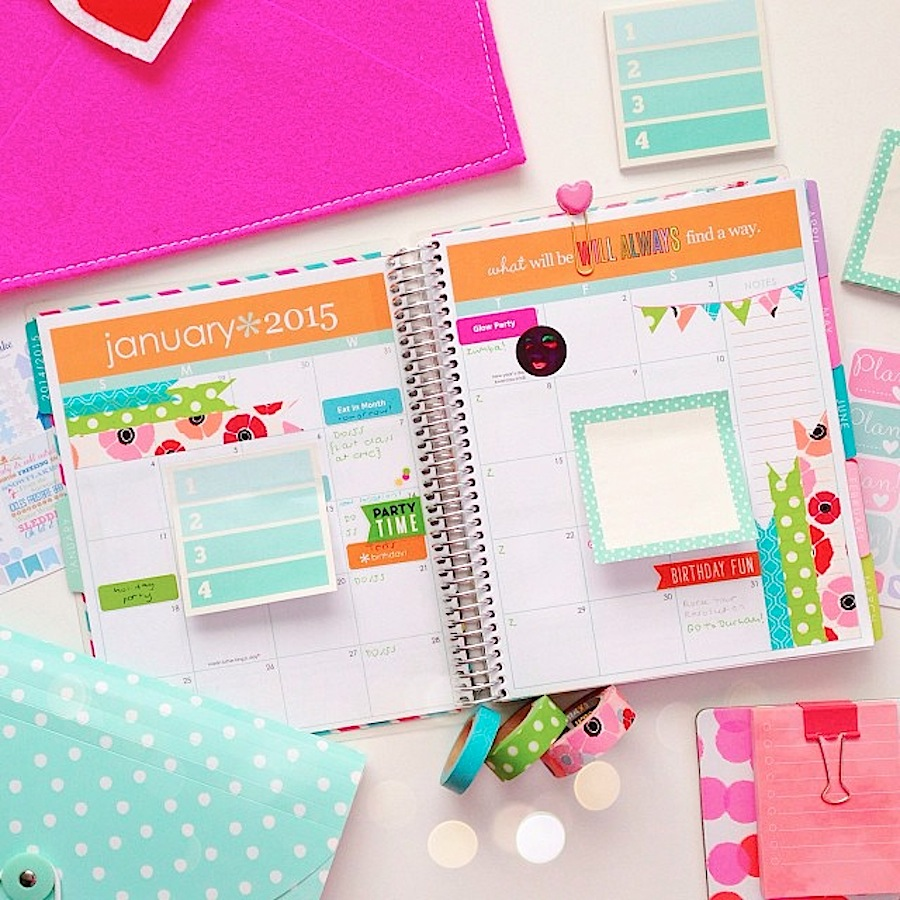 life planner decoration january 2015 weekly monthly
