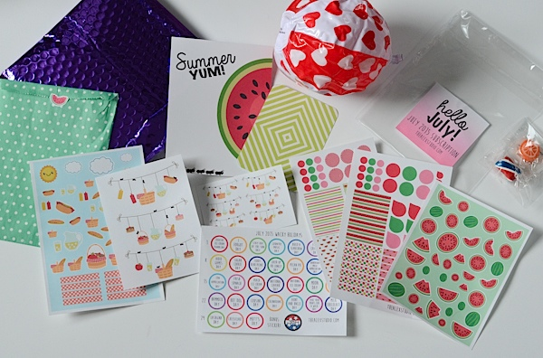 Unboxing the Alex Studio July 2015 Monthly Sticker Subscription Kit