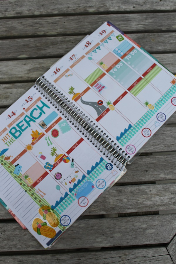 Plan with Me: Beach Theme (Erin Condren | July 2015) *Video*