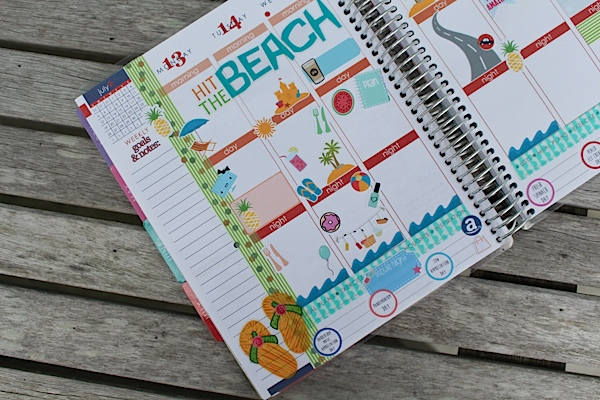 Plan with Me: Beach Theme (Erin Condren | July 2015)