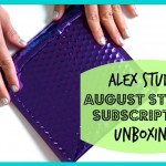 Unboxing the Alex Studio August 2015 Mystery Sticker Subscription Kit Video