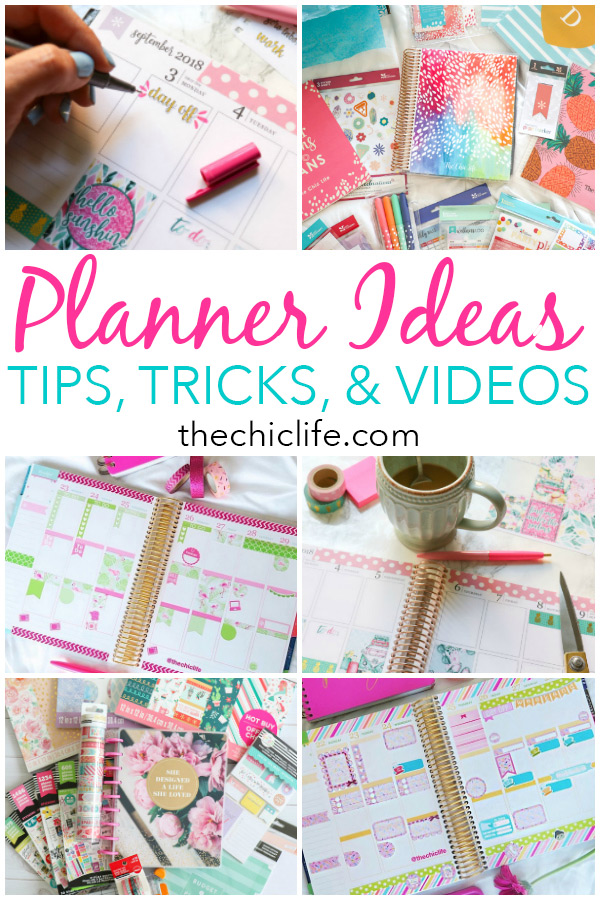 Planner Ideas and Tips (tutorials, tips, tricks, ideas, videos, and inspiration for how to organize decorate your Erin Condren LifePlanner, Happy Planner, or other paper planner) Note: this page will be updated with new content over time so check back often! #planner #organization #erincondren