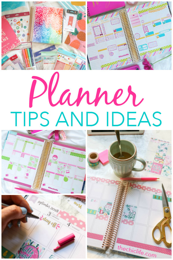 So many great planner tips and ideas in one place! Click for tips for beginners to longtime planner lovers, plan with me videos, photos of layouts since 2015, organization tips, and my favorite planner supplies. So much fun and inspiration! #planner #organization #erincondren #happyplanner #plannerideas