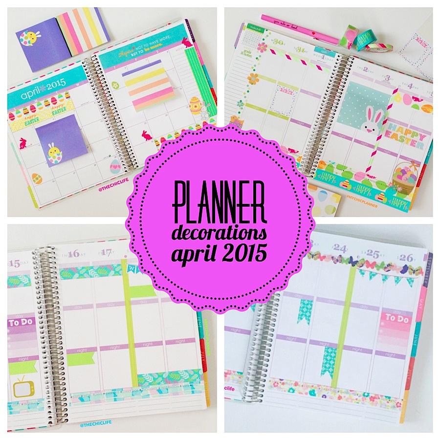 Planner Decoration Ideas: April 2015 | Erin Condren Vertical