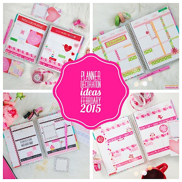 Planner Decoration Ideas: February 2015 (Erin Condren Vertical)