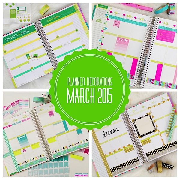 Planner Decorations March 2015 Erin Condren Vertical