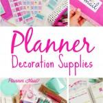 Planner Decoration Supplies | The Chic Life |#mychicplanner