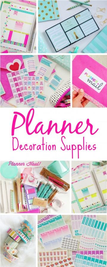 Planner Decoration Supplies | The Chic Life | #mychicplanner
