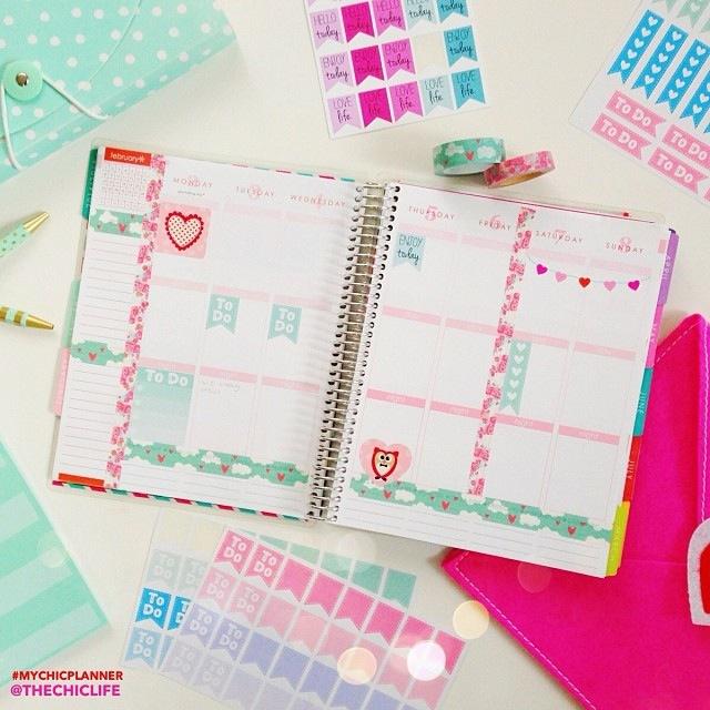 Planner Decoration Ideas February 2015 Erin Condren