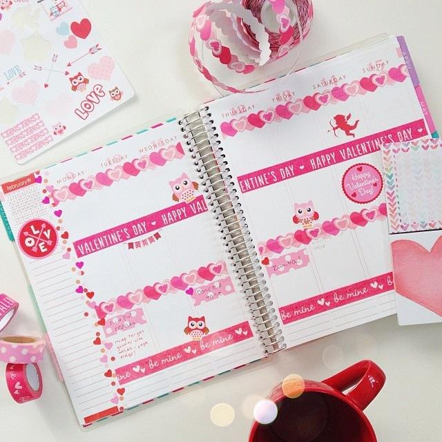 Planner decoration ideas february 2015 erin condren for For planner
