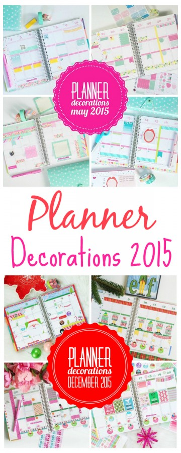 Planner Decorations 2015 | Erin Condren Vertical