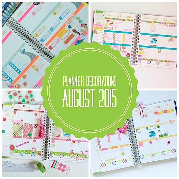 Planner Decoration Ideas: August 2015 (Erin Condren Vertical)