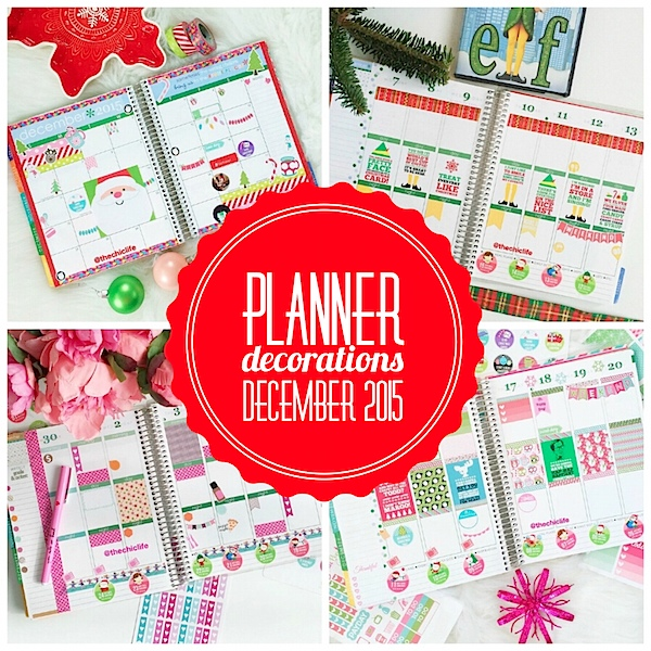 Planner Decoration Ideas: December 2015 (Erin Condren Vertical)