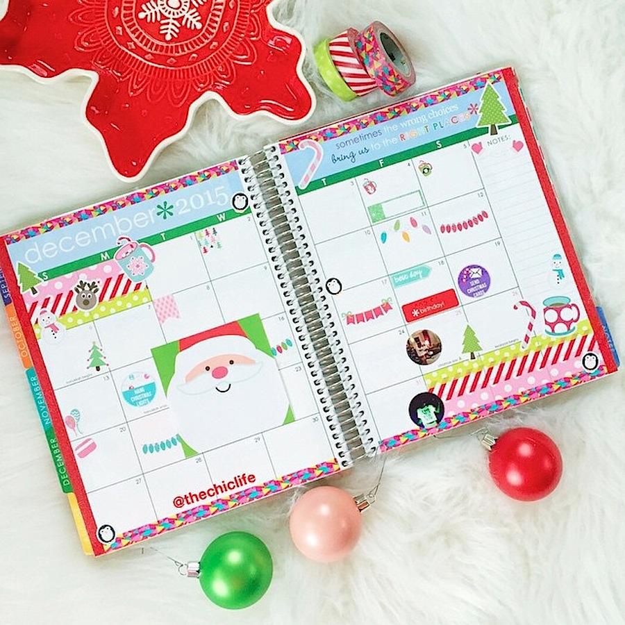 Planner Decoration Ideas December 2015 Erin Condren
