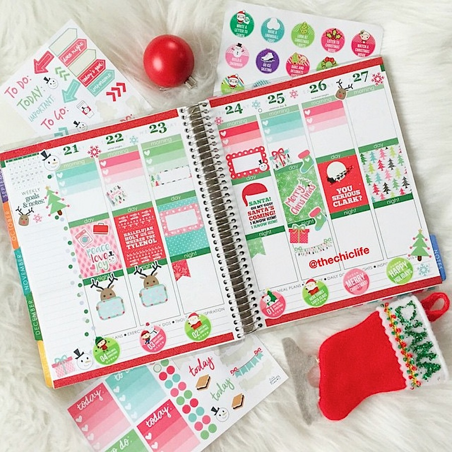 Planning Ideas Old Fashioned Way To Get The Best Pool: Planner Decoration Ideas: December 2015 (Erin Condren