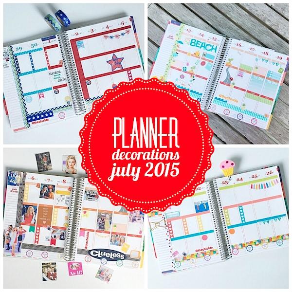 Planner Decoration Ideas: July 2015 (Erin Condren Vertical)