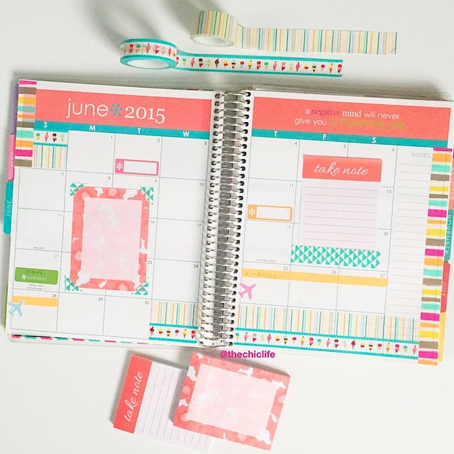 Planner Decoration Ideas: June 2015 (Erin Condren Vertical