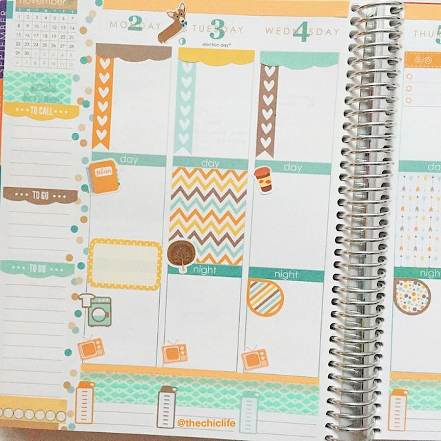 Planning ideas planner decoration ideas november 2015 erin for Happy planner ideas
