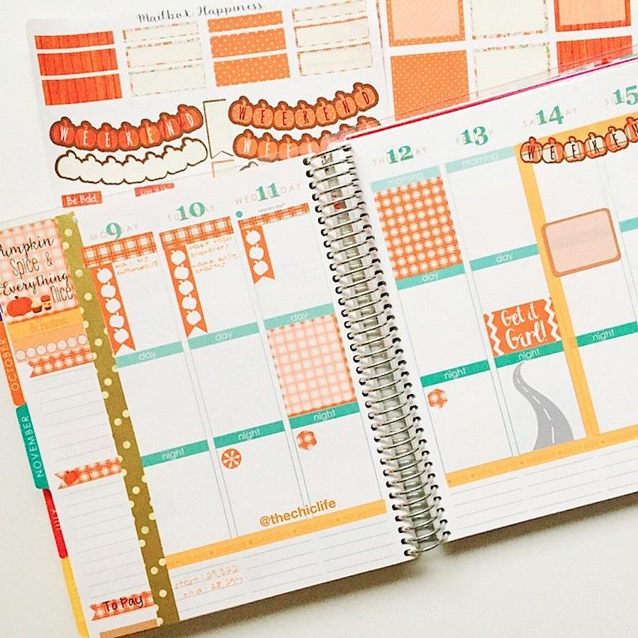 Planner Decoration Ideas November 2015 Erin Condren