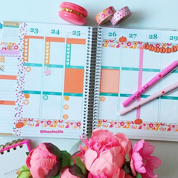 Planner Decoration Ideas: November 2015 (Erin Condren Vertical)