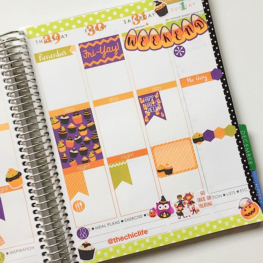 Planning Ideas Old Fashioned Way To Get The Best Pool: Planner Decoration Ideas: October 2015 (Erin Condren