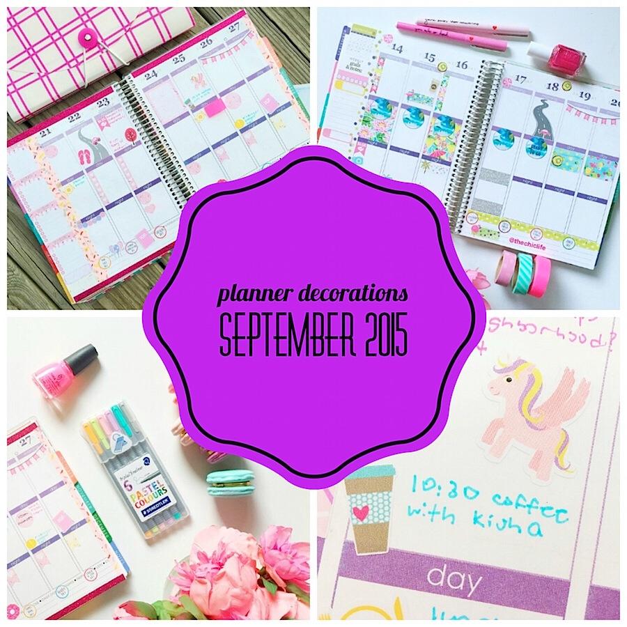 Planner Decoration Ideas: September 2015 (Erin Condren Vertical)