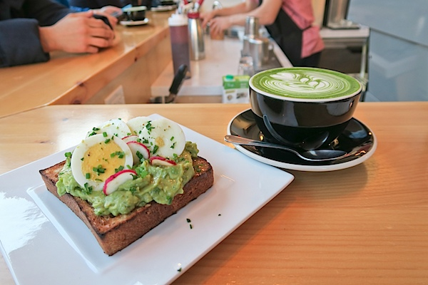 Chalait NYC: Matcha Latte and Avocado Toast