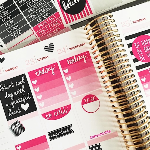 Planner Decorations February 2016 (Erin Condren Vertical)