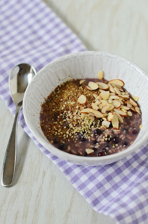 Blueberry Oatmeal Recipe {Stove Top}