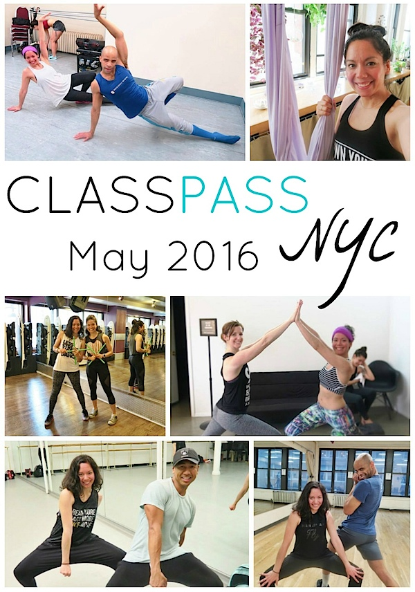 ClassPass NYC: My May 2016 Month Recap